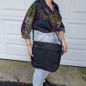 NWOT Coach Leather Messenger Black Bag Unisex